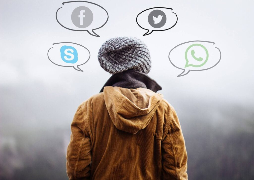 Casting of Social media in your mind